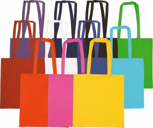 Colours available for Snowdown Cotton Custom Tote Bags from The Promobag Warehouse
