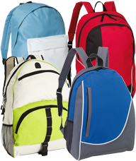 Promotional Backpacks & Branded Bags available in many styles for your Company Branding from The Promobag Warehouse