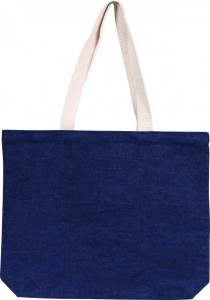 Westmarsh Denim Cotton Tote Bag, an alternative to Davington Jute Promotional Tote Bag with Contrast Stripe, from The Notebook Warehouse.