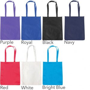 Colours available for Chatham Budget Promotional Tote Bag from The Promobag Warehouse