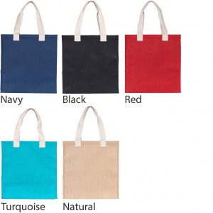 Colours available for Dargate Jute Promotional Tote Bag