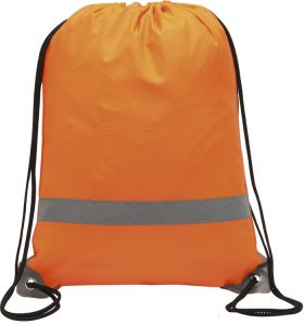 Knockholt Reflective Branded Drawstring Bag from The Promobag Warehouse an alternative to an alternative to the Rainham Environmentally Friendly Drawstring Branded Bags