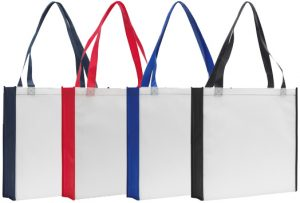 Rochester Contrast Promotional Tote Bags Colours available from The Promobag Warehouse
