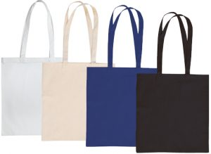 Colours available for Sandgate Cotton Canvas Custom Tote Bags from The Promobag Warehouse