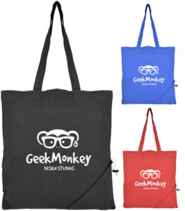 Image showing Coloured Foldable Branded Tote Bags range from The Promobag Warehouse