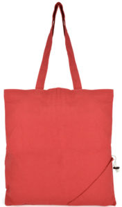 Image showing Red Coloured Foldable Branded Tote Bags from The Promobag Warehouse