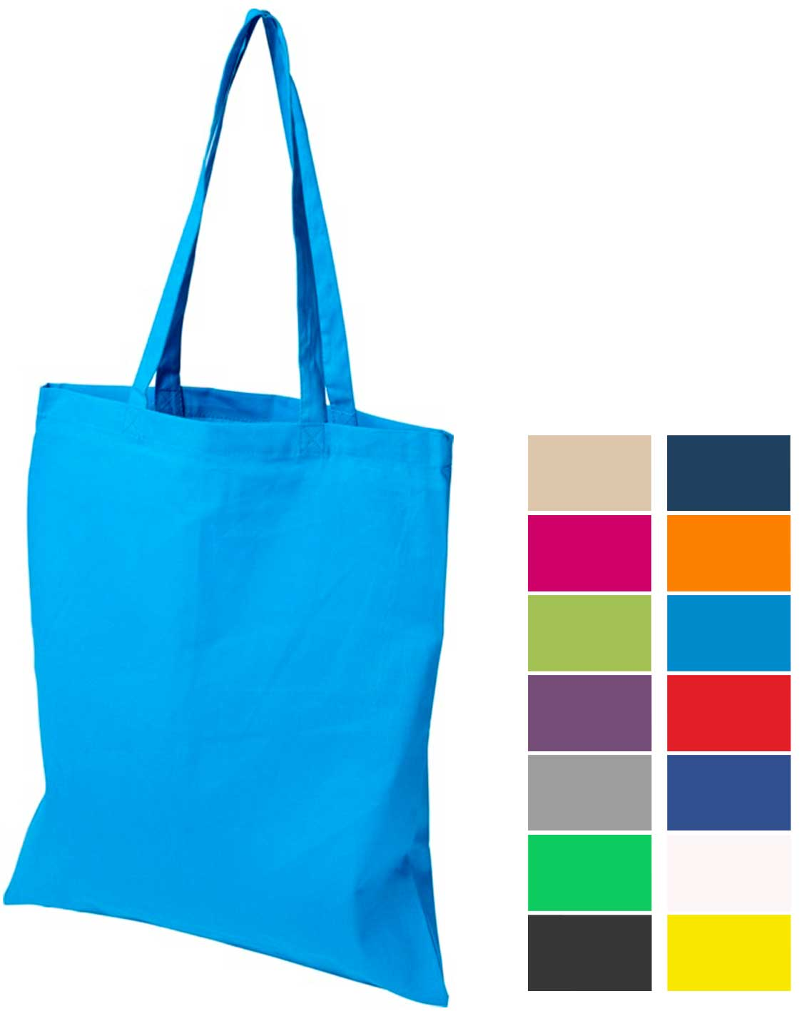 Group image of Madras Company Branded Tote Bags with colour range from The Promobag Warehouse
