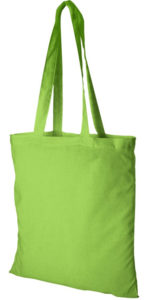 Image Showing of Madras Company Branded Tote Bags in Lime from The Promobag Warehouse